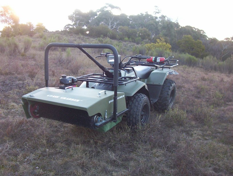 grass Grabber quad Bike